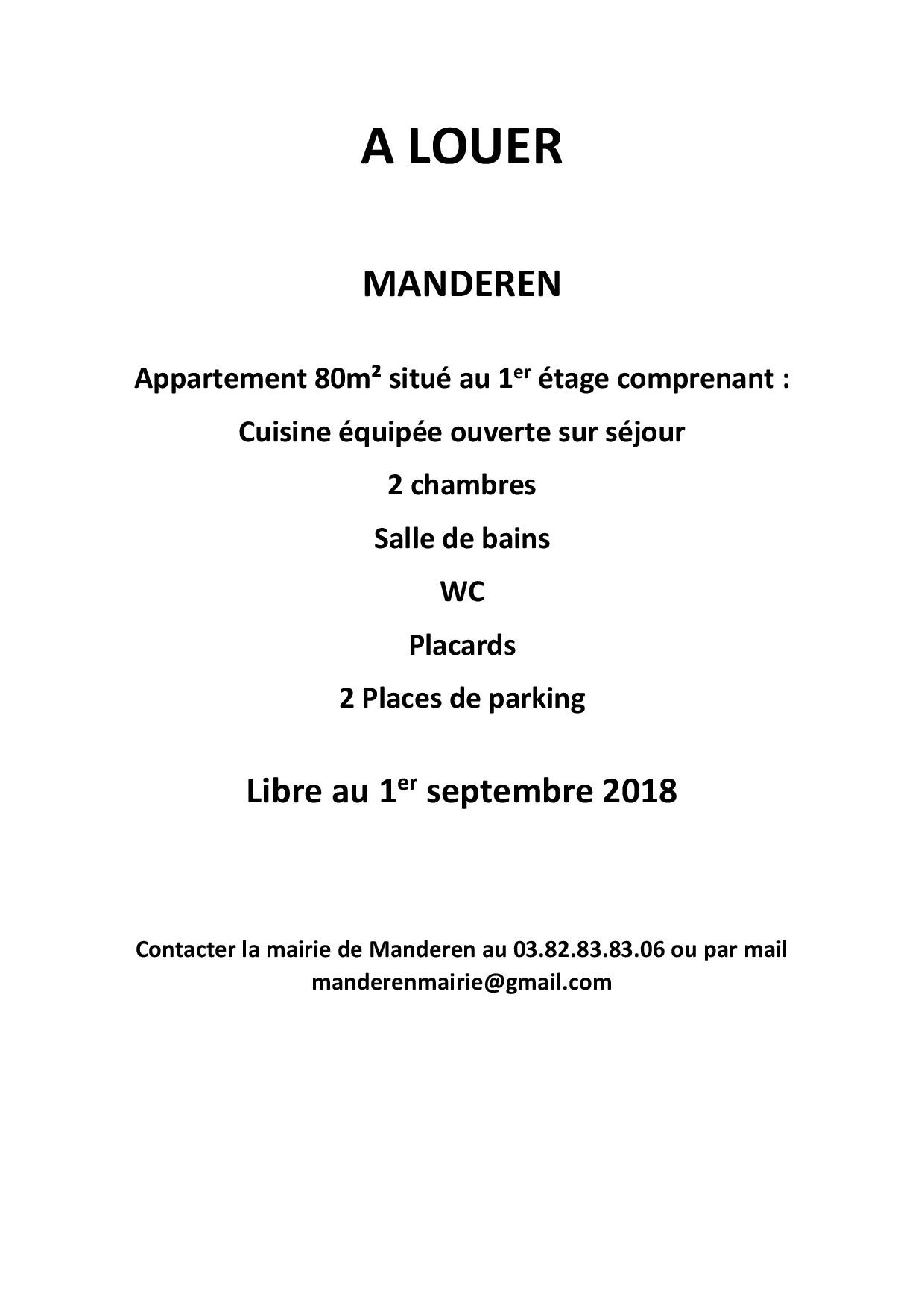 Annonce location appartement page 001