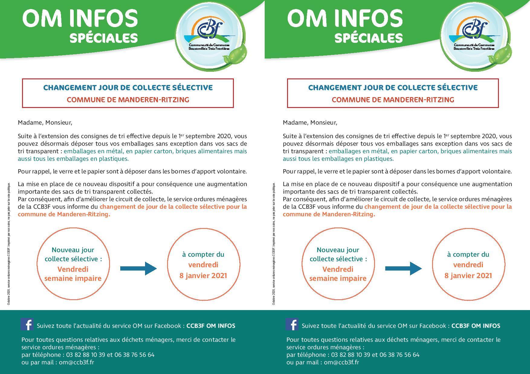 Flyer changement jour de collecte selective manderen ritzing page 001